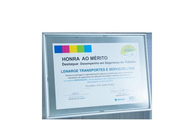HONRA AO MÉRITO 2018
